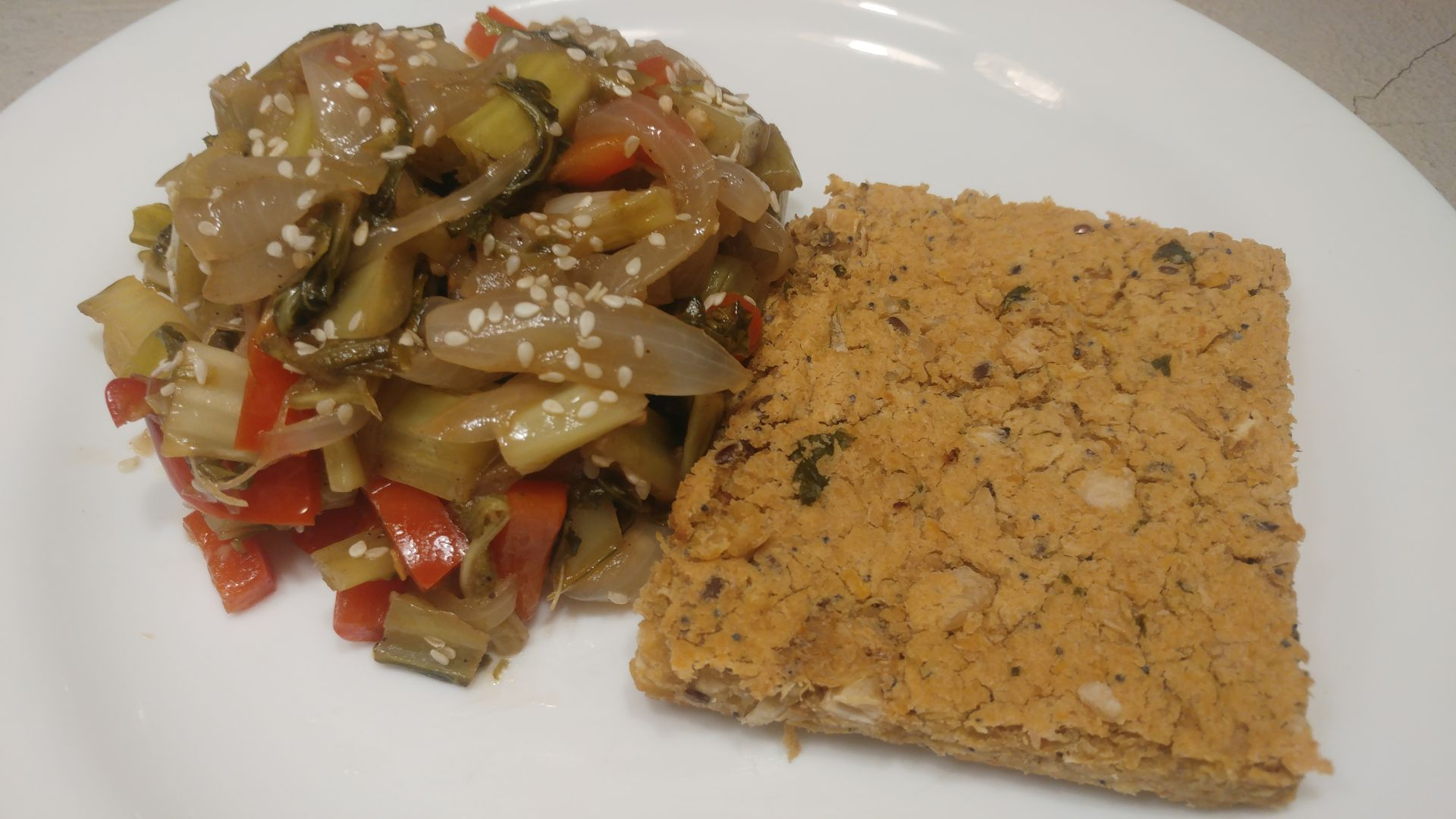 Paillard de legumbres y quinoa