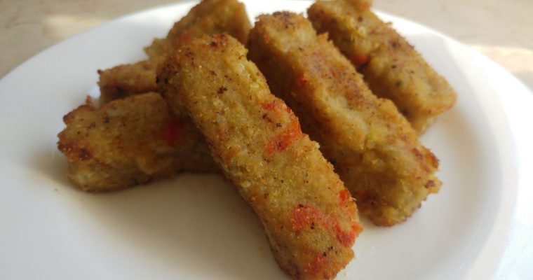 Bastones de aguacate y quinoa
