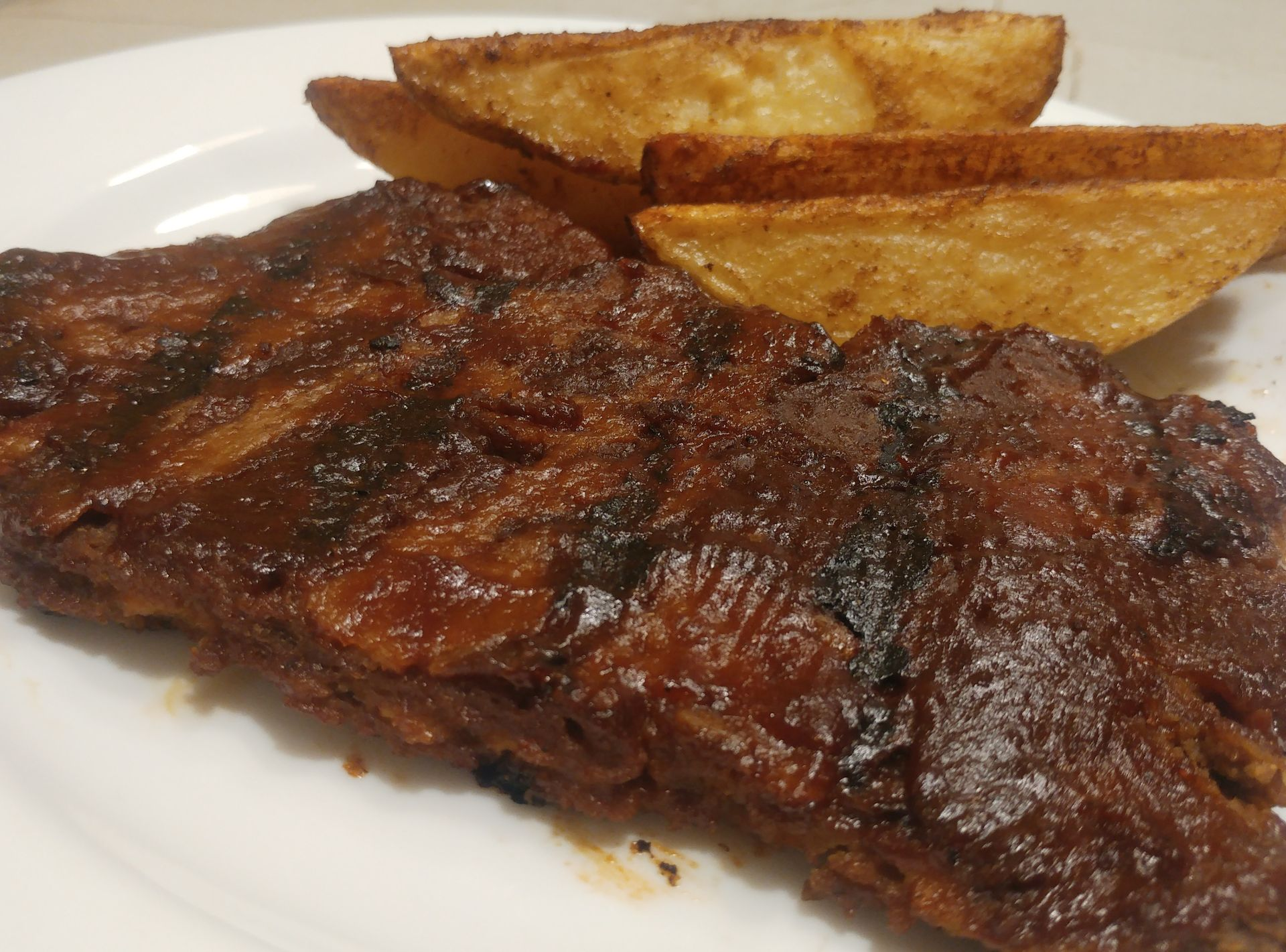 Carne vegetal a la barbacoa