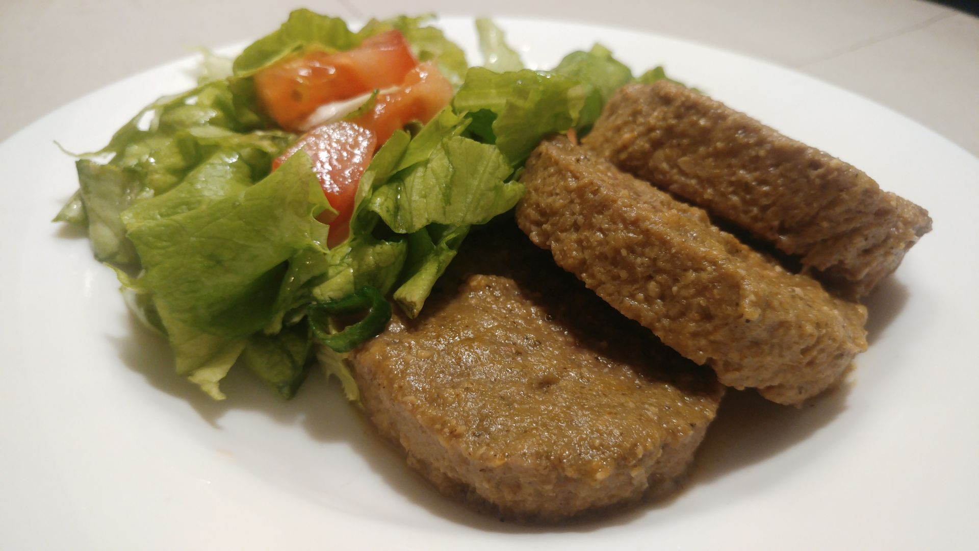 Carne vegetal de okara de soja