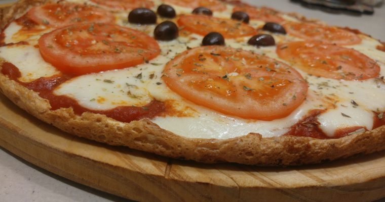 Pizza napolitana sin harina