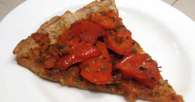 Pizza de pimientos sin queso