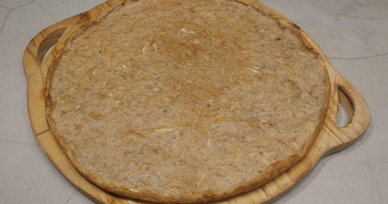Masa de pizza de mandioca (yuca) sin harina